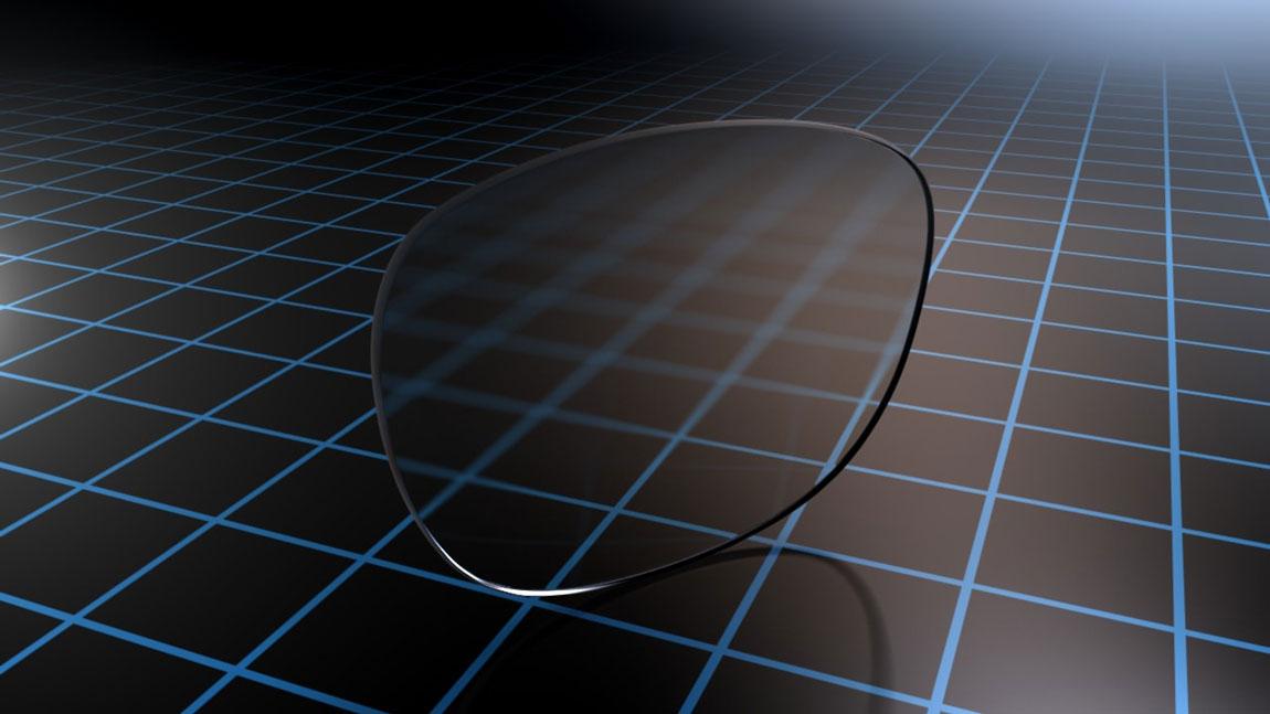 Стъкла с дизайн Eyezen, демонстриращи технологията Eyezen Focus.